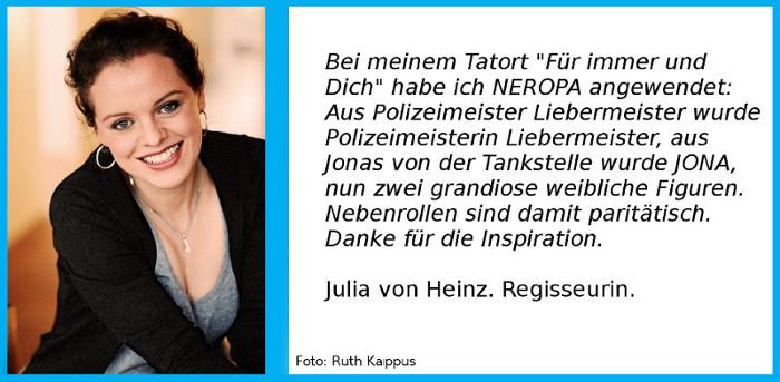 Regisseurin Julia von Heinz zu NEROPA.