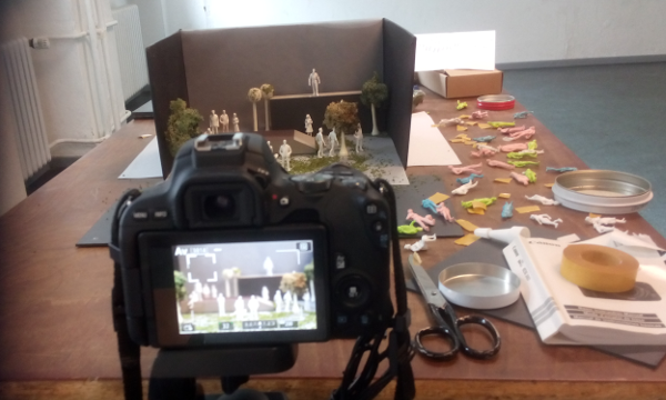 Stop-motion sequences for NEROPA shortfilm. Photo Beinde Ruth Stieve